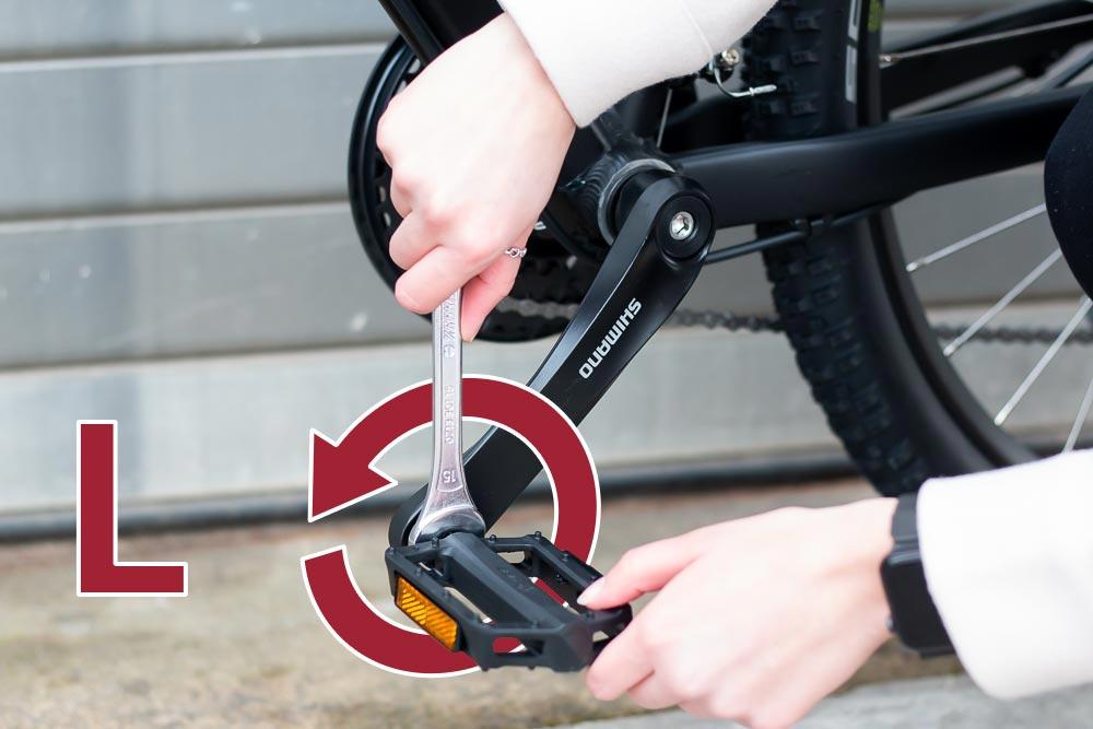 21 aufbau pedal links anschrauben - Schritt für Schritt erklärt: Aufbauanleitung für dein Fahrrad oder E-Bike