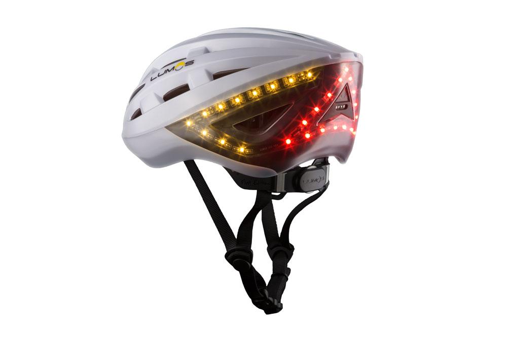 Lumoswhite3 - Lumos Kickstart Fahrradhelm - Er blinkt und hat Bluetooth