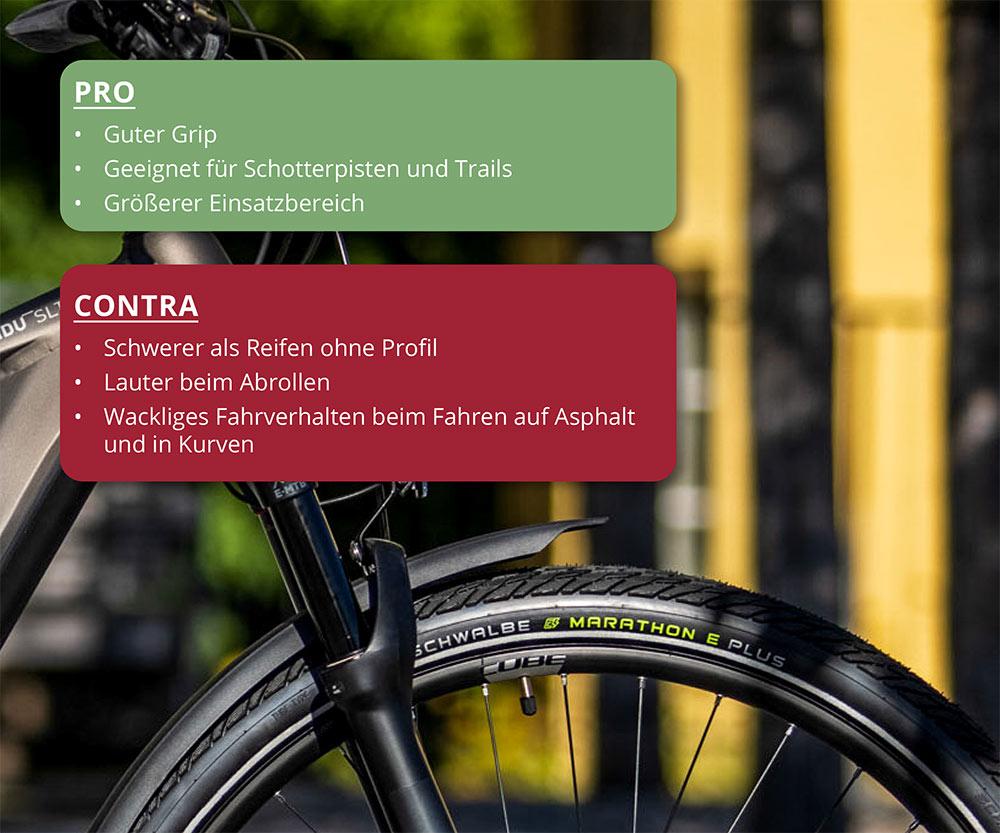Trekkingbikeberatung mit Reifenprofil - Welcher Reifentyp für mein Trekkingbike?