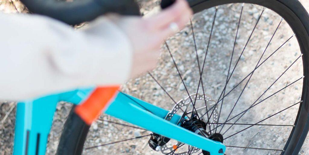 Scheibenbremsen an einem modernen Rennrad
